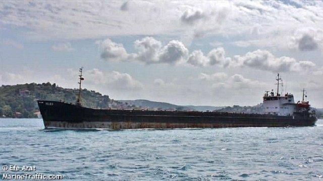 У Чорному морі  сіло на мілину судно, яке незаконно заходило до портів окупованого Криму