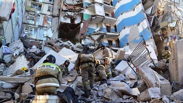 В результаті вибуху будинку у російському Магнітогорську загинули 39 людей