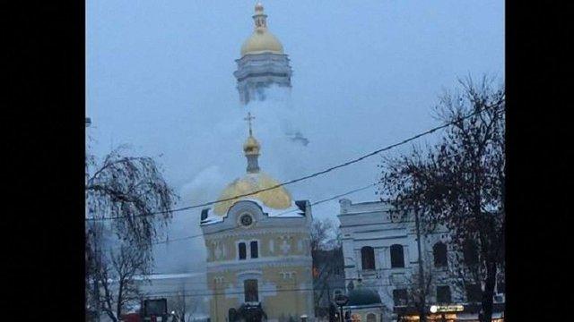 У монастирському комплексі Києво-Печерської лаври виникла пожежа