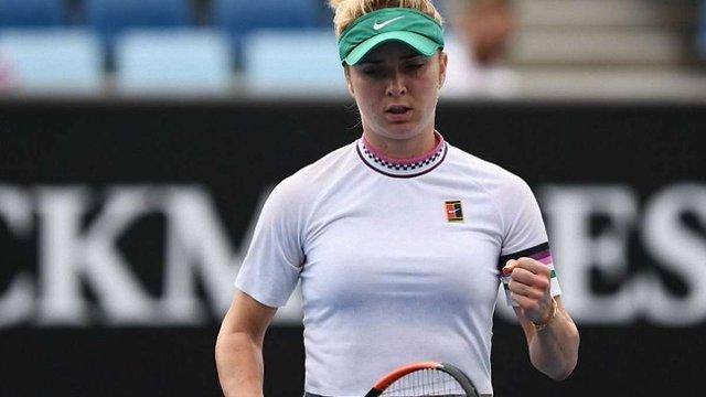 Українська тенісистка Еліна Світоліна пройшла до чвертьфіналу Australian Open