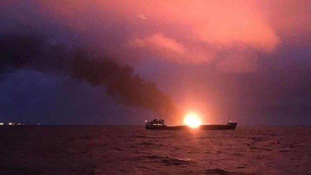Cудна, які горіли у Керченській протоці, незаконно постачали газ до Сирії, - МінТоТ