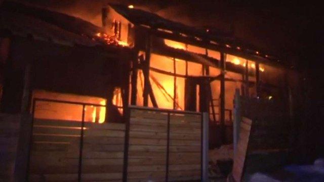 У Львові згорів дерев'яний житловий будинок