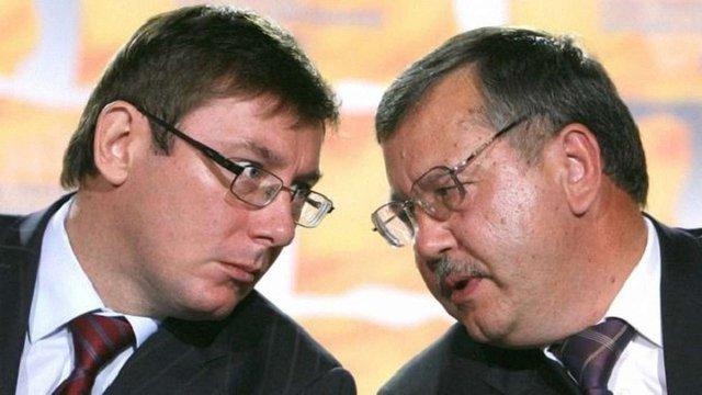 Анатолій Гриценко та Юрій Луценко посварились  через участь своїх синів в АТО
