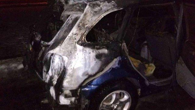 Вночі у Червонограді на Львівщині згорів автомобіль Mazda
