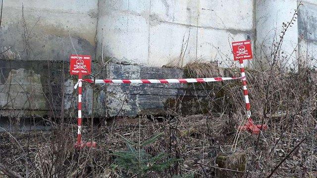 Під мостом на Сколівщині виявили протитанкову міну