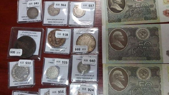 Українець намагався вивезти до Польщі стародавні монети та банкноти