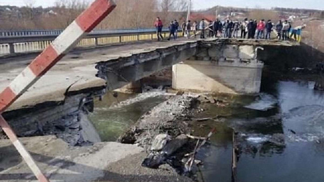 На Тернопільщині обвалився міст через Серет