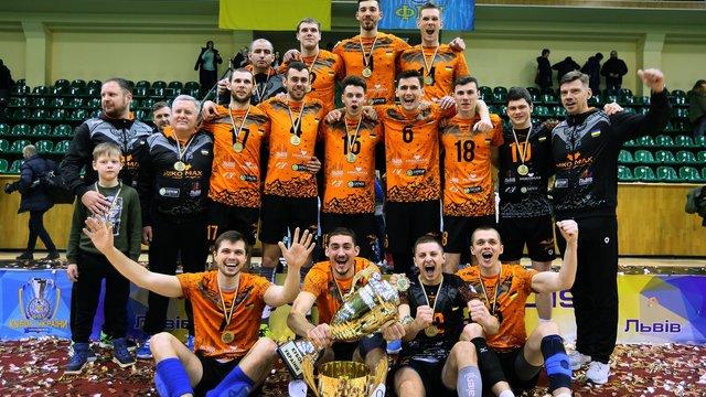 Львівські волейболісти «Барком-Кажани» втретє вибороли Кубок України