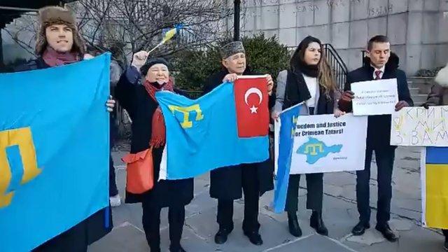 Біля будівлі ООН активісти провели мітинг на підтримку кримських татар