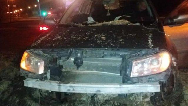 Нетвереза львів'янка з двома дітьми в автомобілі вчинила ДТП
