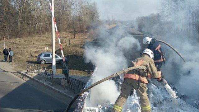 На Прикарпатті під час руху загорівся вантажний поїзд