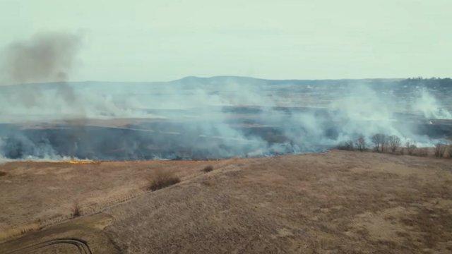 За тиждень на Львівщині зафіксували близько 400 підпалів сухої трави