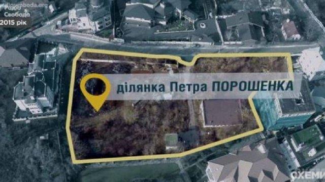 УДО засекретило документи про земельну ділянку Порошенка в центрі Києва