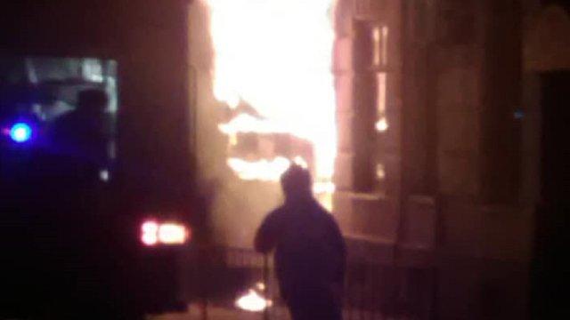 Під час пожежі у майстерні взуття на Підзамчі отруївся чоловік