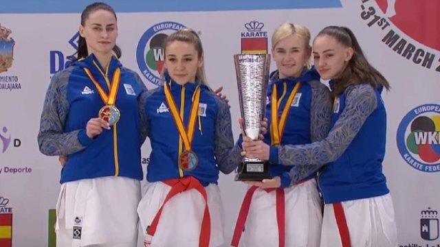 Українські каратистки здобули «золото» на чемпіонаті Європи