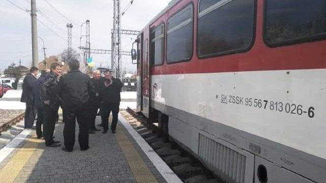 На Закарпаття прибув тестовий потяг Кошице – Мукачево – Кошице