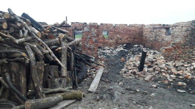На Львівщині через конфлікт із «чорними» лісорубами багатодітній матері спалили стайню з худобою