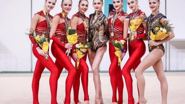 Збірна України з художньої гімнастики завоювала золоту медаль етапу Кубка світу
