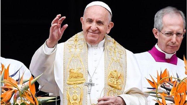 Папа Римський Франциск у своїй великодній промові згадав Україну
