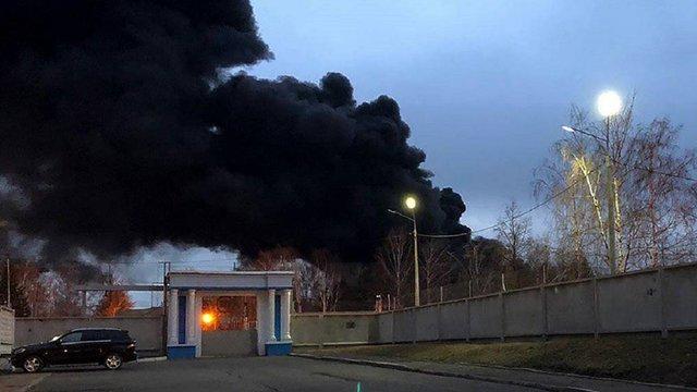 У Росії спалахнула велика пожежа на заводі з виробництва балістичних ракет