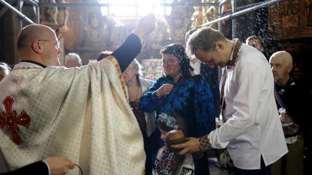 До Великодня у Гарнізонному храмі освятили понад 300 продуктових наборів для малозабезпечених