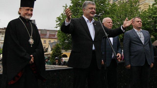 Близько 5 тисяч прихильників прийшли подякувати Порошенкові у Львові