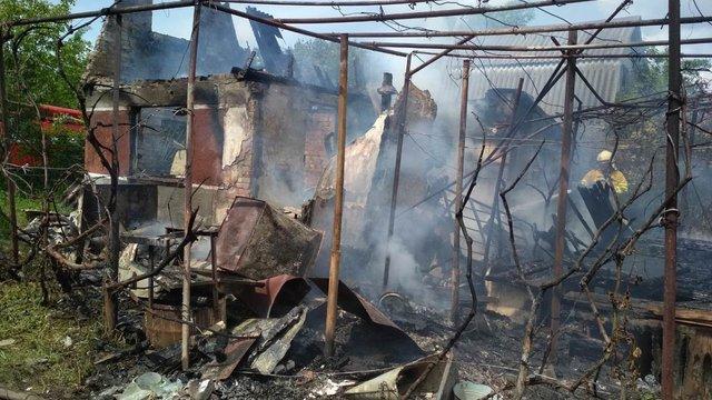У Великому Любені виникла пожежа в дачному кооперативі