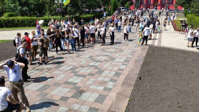 У Києві влаштували акцію на підтримку політичних в'язнів Кремля