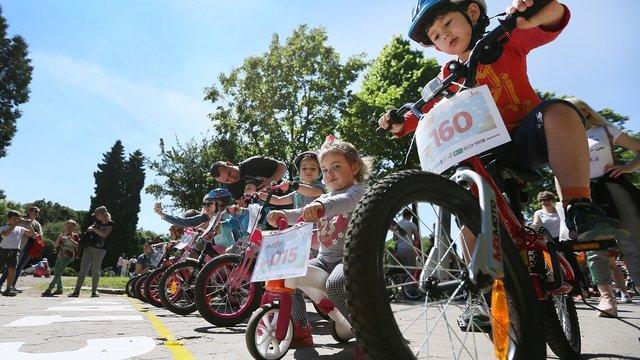У Львові пластуни влаштували дитячі благодійні велоперегони