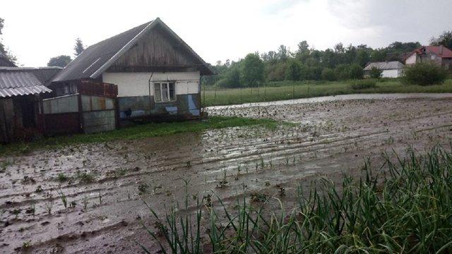 На Жидачівщині після минулотижневих дощів досі залишаються підтопленими приватні господарства