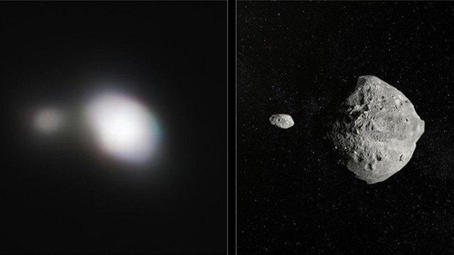 Європейська обсерваторія поширила фото подвійного астероїда, що пролетів неподалік від Землі