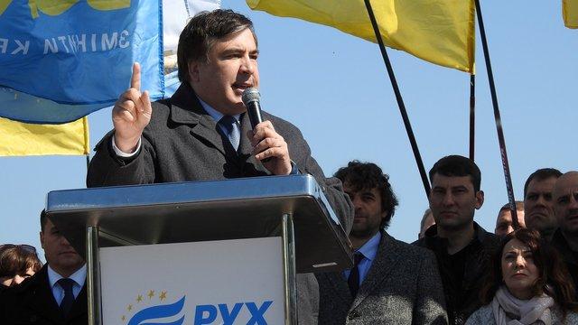 Саакашвілі оголосив про похід своєї партії на вибори до ВРУ