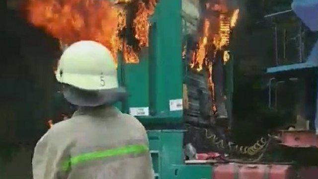 У Дрогобицькому районі на Львівщині під час руху загорілася фура