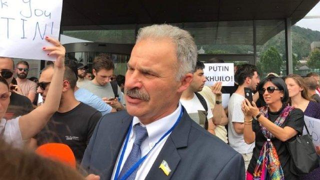 Український народний депутат став фігурантом антиросійської акції в Грузії