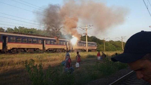 Поблизу Дніпра під час руху загорілася електричка
