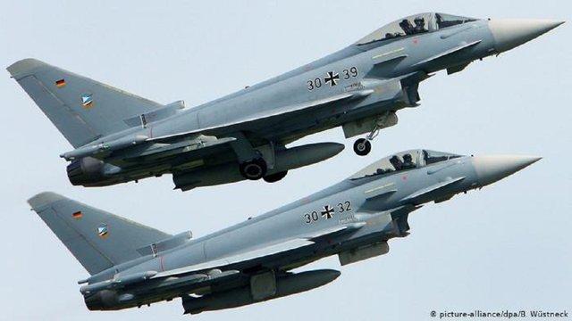 У Німеччині під час тренувань розбилися два винищувачі Eurofighter