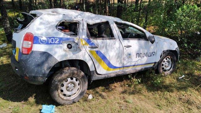 На Рівненщині поліцейські, які потрапили в ДТП, звинувачують в аварії облавтодор