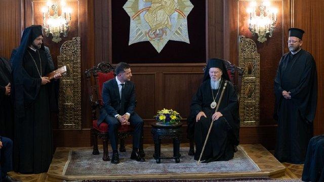 Зеленський і патріарх Варфоломій не дійшли згоди щодо спільної заяви