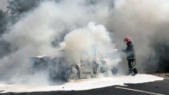 У Житомирській області внаслідок ДТП із пожежею постраждали 24 людини