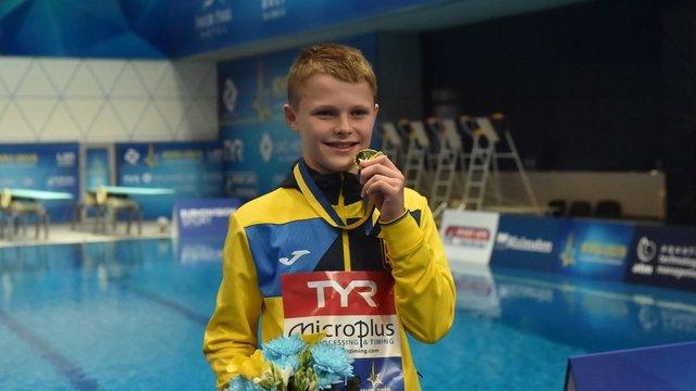 13-річний українець Олексій Середа став наймолодшим чемпіоном Європи зі стрибків у воду