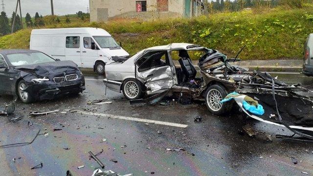 Біля Тухольки у подвійній ДТП травмувалися семеро людей, з них двоє дітей