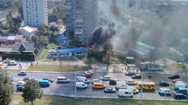 У Львові на перехресті вулиць Стрийська-Наукова загорівся МАФ