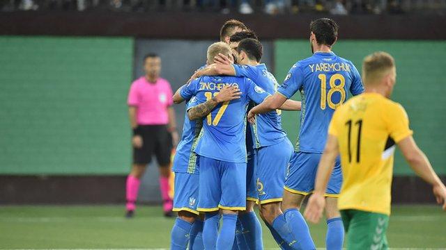 Збірна України без проблем перемогла Литву у відборі на Євро-2020