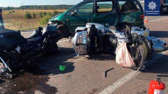 На Волині автомобіль лісничого на смерть збив байкера з Дніпропетровщини