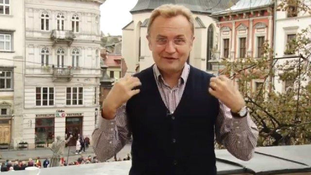 Мер Львова Андрій Садовий записав відеозвернення мовою жестів