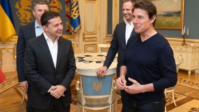 Том Круз розповів Зеленському про наміри зняти свій новий фільм в Україні