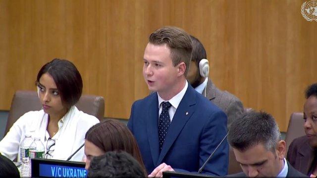 Львівський пластун виступив в ООН з промовою про порушення Росією прав людини