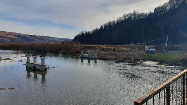 На Сколівщині розпочали будівництво нового моста через річку Стрий