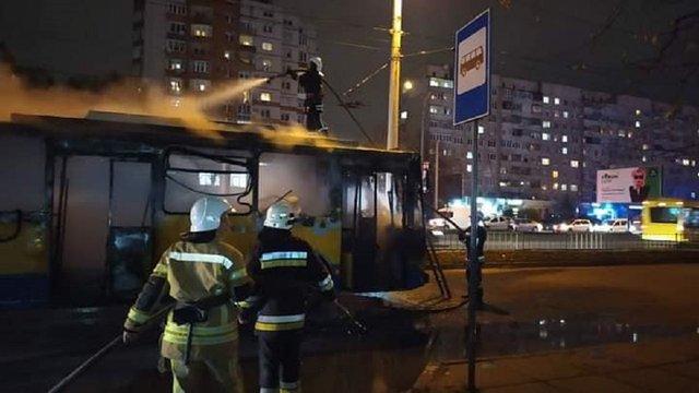 На вул. Науковій згорів тролейбус маршруту №22