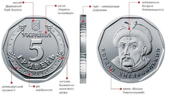 Нацбанк з 20 грудня вводить в обіг монету номіналом 5 гривень